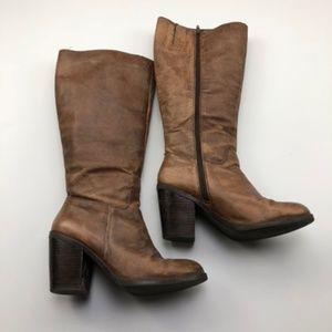 Nine West Knee High Brown Boots with Heel